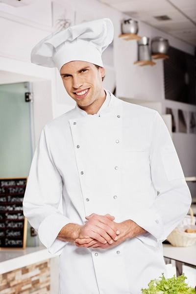 Moving-Satin-Chefkochjacke mit Jersey