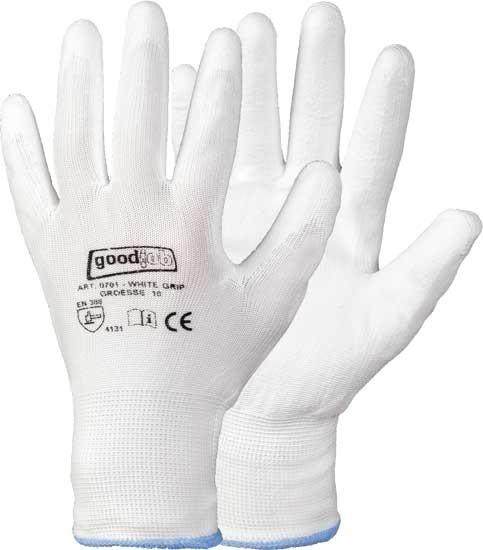 Pu beschichtete Handschuhe, White Grip