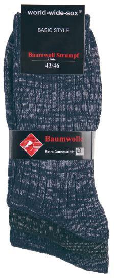 BAUMWOLL JEANS STRUMPF 3er Pack